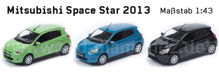 Mitsubishi Space Star Modell Maßstab 1:43; Foto: MItsubishi Motors