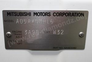 Mitsubishi Space Star 2013 Modellcode, Motorcode, Farbcode
