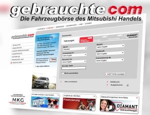 Relaunch der Mitsubishi Fahrzeugbörse