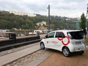 "Mitsubishi i-MiEV beim Smart-Community-Projekt ""Lyon Confluence"""
