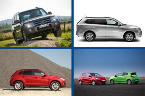 Mitsubishi Pajero, Outlander, ASX und Space Star