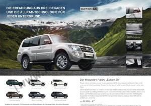 """Prospekt Mitsubishi Pajero Sondermodell """"Edition 30"""""""