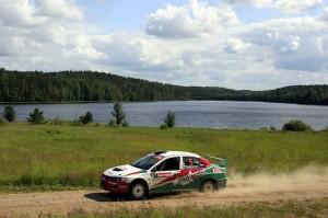 Zhigunov im Mitsubishi Evo bei der Rally Russia 2013